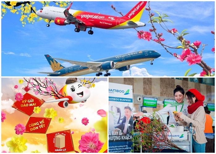 Photo of 4 Hãng hàng không nội địa nhận vận chuyển đào, mai đón Tết Canh Tý 2020