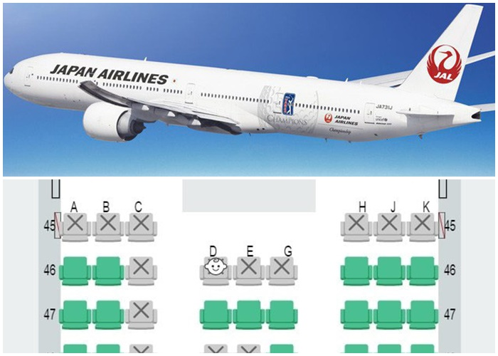 Photo of Bản đồ nhận biết ghế ngồi có trẻ em trên máy bay của Japan Airlines