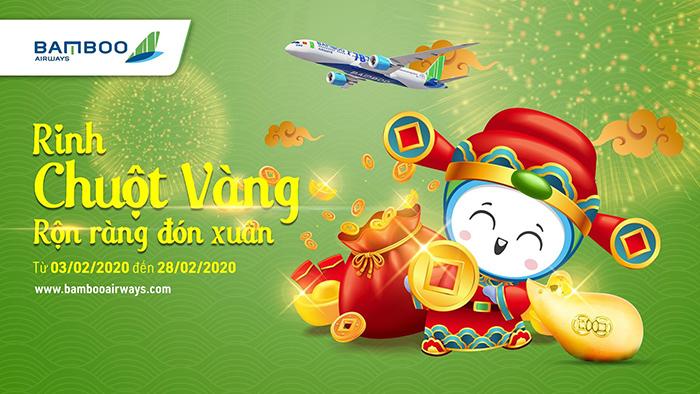 """Photo of Cơ hội nhận """"Chuột Vàng 9999"""" khi đặt vé máy bay Bamboo Airways vào tháng 2/2020"""