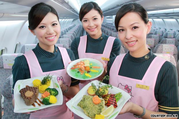 Thông tin về suất ăn được phục vụ trong chuyến bay của Eva Air