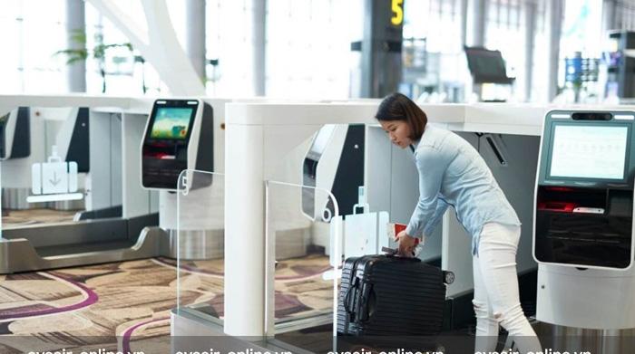 Photo of Quầy gửi hành lý tự động dành cho hành khách của Eva Air