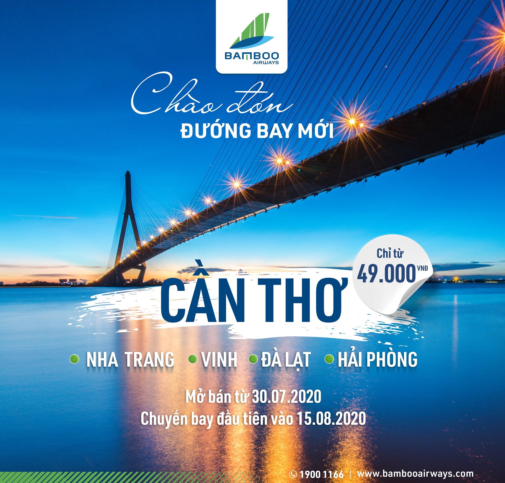 Photo of Từ ngày 15/8 Bamboo Airways mở thêm 4 đường bay mới
